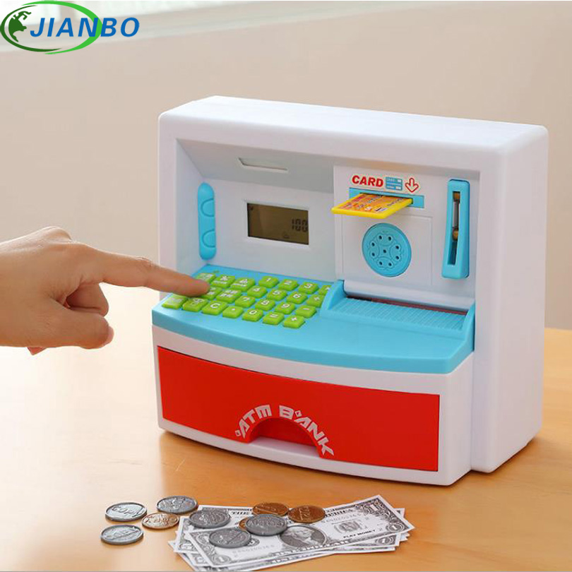 Safety Electronic Digital Piggy Bank Mini ATM Money Box Music Password Saving Coins Cash Cofre Chinese Speech As Children Gifts giantree portable money box 6 compartments coin steel petty cash security locking safe box password strong metal for home school