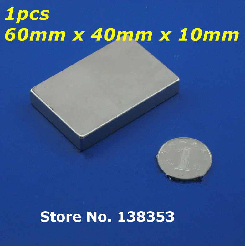 1pcs Bulk Super Strong Neodymium Rectangle Block Magnets 60mm x 40mm x 10mm N35 Rare Earth NdFeB Rectangular Cuboid Magnet 10pcs 60x40x5mm super strong neo neodymium magnet 60x40x5 ndfeb magnet 60 40 5mm 60mm x 40mm x 5mm magnets 60mmx40mmx5mm