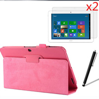 4in1 Luxury Magnetic Folio Stand Leather Case Cover 2x Screen Protector Film 1x Stylus For Acer