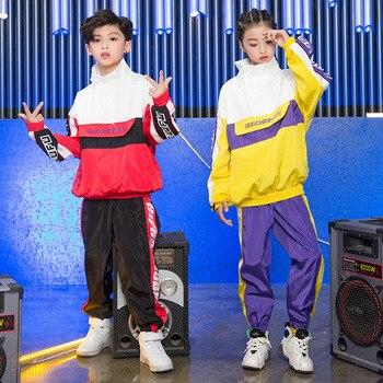 204da4365e81d De moda Hip Hop niños Tops pantalones de manga larga danza Jazz Rave ropa  suelta niño niñas de la calle de práctica de baile ropa DC1085