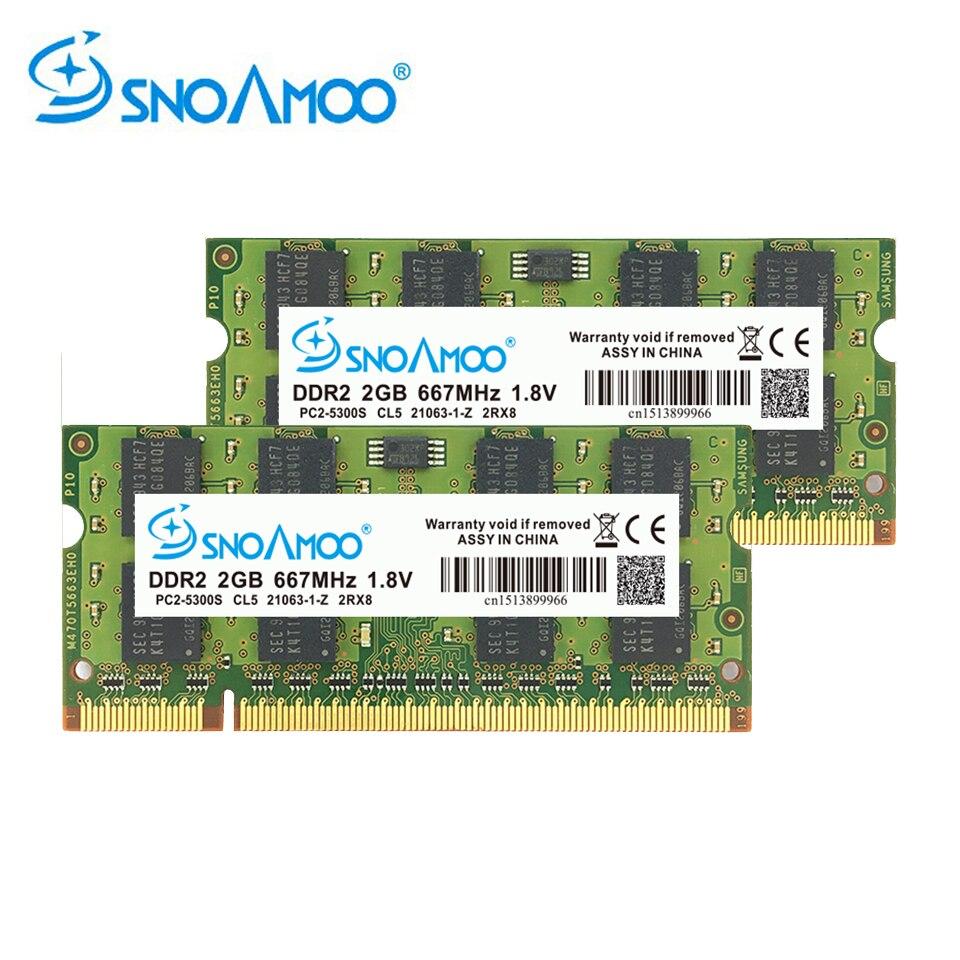 SNOAMOO Laptop RAMs DDR2 2GB 667MHz- 800MHz PC2-6400S 200Pin 1.8V 2Rx8 SO-DIMM Computer Memory Warranty