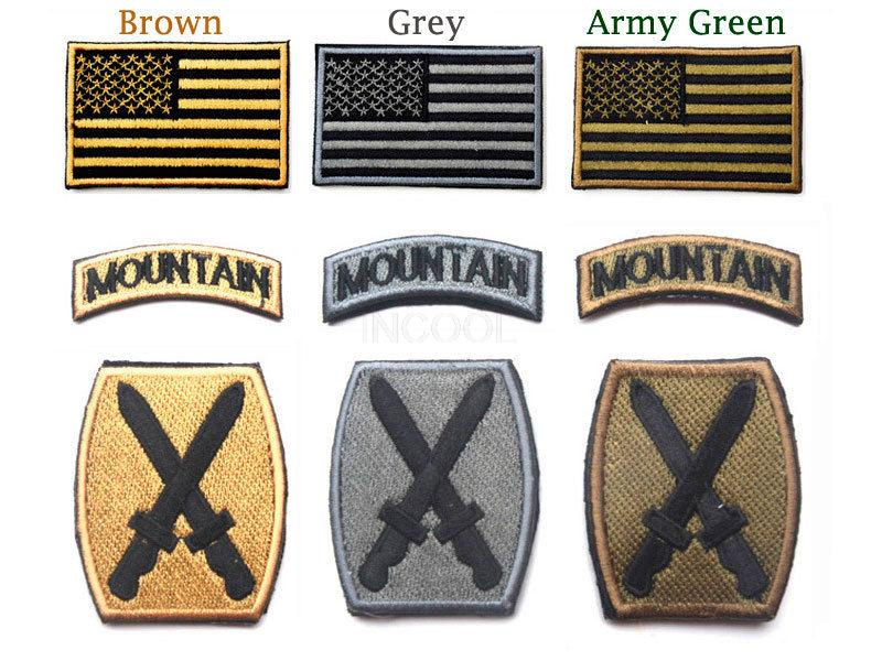 US Army 10th Mountain Division 3D Embroidered USA Flag & Tab & Digital ACU Patch BDU Shoulder Patch Badge