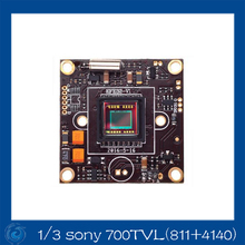 Free Shipping 1/3 Sony EFFIO-E 700TVL(4140+811) CCD Board Camera With OSD Menu