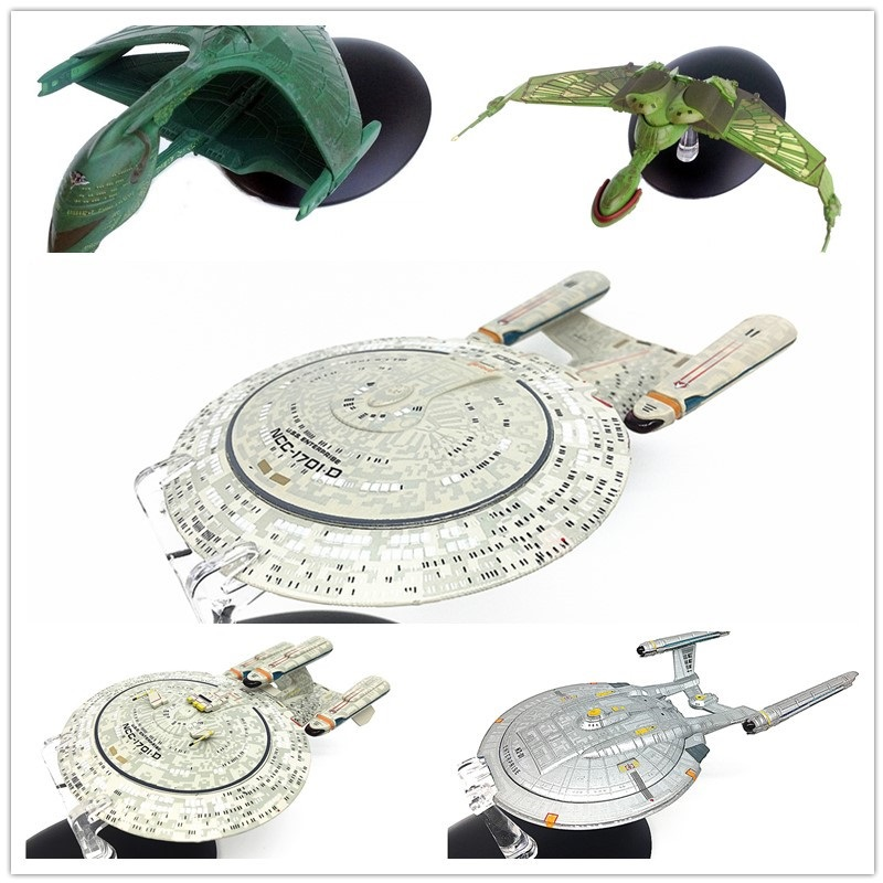 STAR TREK USS Enterprise Model Spaceship 5pcs/set star trek magazine star ship eaglemoss uss enterprise nx 01 spaceship model 4