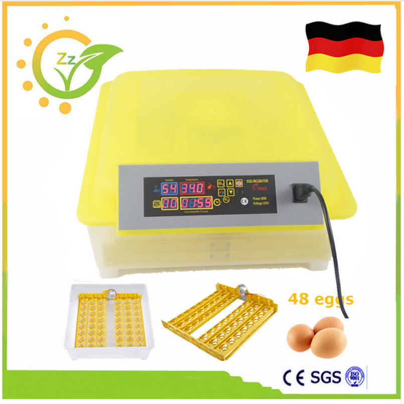 Mini China Brooder Hatchery Machine Fully Automatic Egg Incubator For Hatching 48 Chicken Duck Poultry Eggs small chicken poultry hatchery machines 48 automatic egg incubator 220v hatching for sale