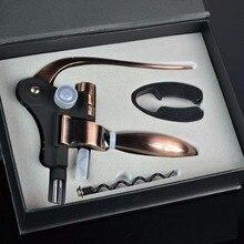 Professional สังกะสีอัลลอยด์ Power ไวน์ที่เปิดขวดที่เปิดขวด Corkscrew ชุดเครื่องตัดฟอยล์พรีเมี่ยมกระต่าย Lever Corkscrew ไวน์