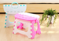 Folding Stools Portable Blue Pink Plasticl Fishing Useful Outdoor Sitting Outdoor Sports Home Convenient Folding Step