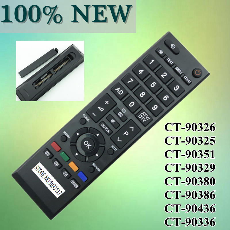 New original remote controller for Toshiba LCD TV CT-90326 CT-90325 CT-90351 CT-90329 CT-90380 CT-90386 CT-90436 CT-90336