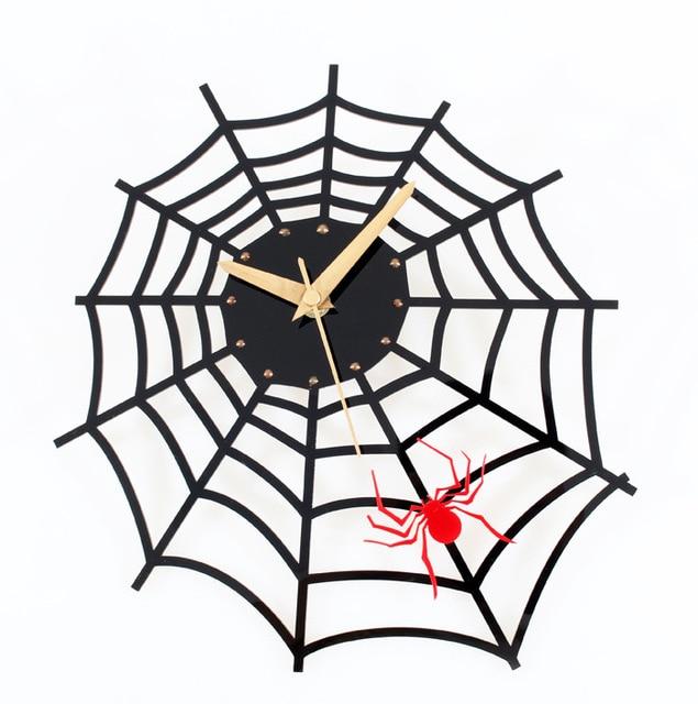 tuda free shipping fashion creative spider wall clock artistic