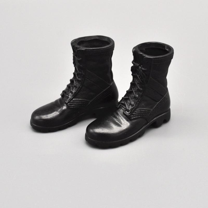1/6 Modern U.s Army Special Force Black Combat Tactical Boots Model For 12''action Figures