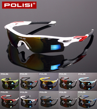 POLISI Brand New Designed Anti-fog Cycling Glasses Sports Eyewear Polarized glasses Bicycle Goggles Bike Sunglasses 5 Lenses