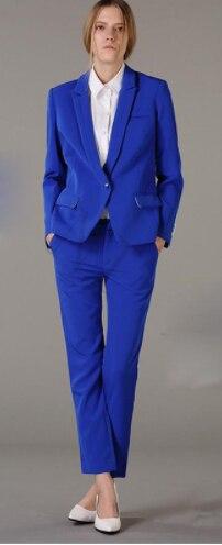 Custom made blue women business suits 2 piece set women tuxedo female trouser suit ladies office uniform elegant pant suit
