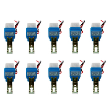 цена на 10Pcs Auto On Off Photocell Street Light Photoswitch Sensor Switch AC/DC 12V 10A