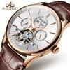 AESOP Luxury Men Watch Automatic Mechanical Men Wrist Wristwatch Leather Strap Waterproof Male Clock Relogio Masculino