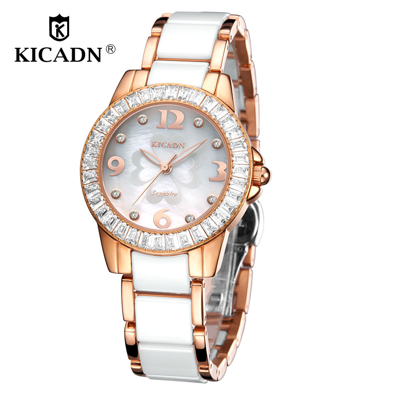 Top Ladies Luxury Watch Fashion Quartz Wristwatch Women Clock KICADN Brand Elegant Watches Female Montre Femme relogio feminino get smart our amazing brain