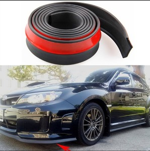 Carbon fiber 2.5m 65mm Width Front Bumper Lip Splitter Car Sticker Body Kits Spoiler Bumpers Valance Chin Car Rubber Strip