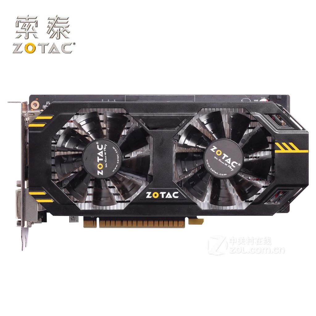 Оригинальная видеокарта ZOTAC GeForce GTX 650Ti 1GD5 Thunderbolt HA 128Bit 650 Ti GDDR5 графические карты для NVIDIA Map GTX650Ti б/у