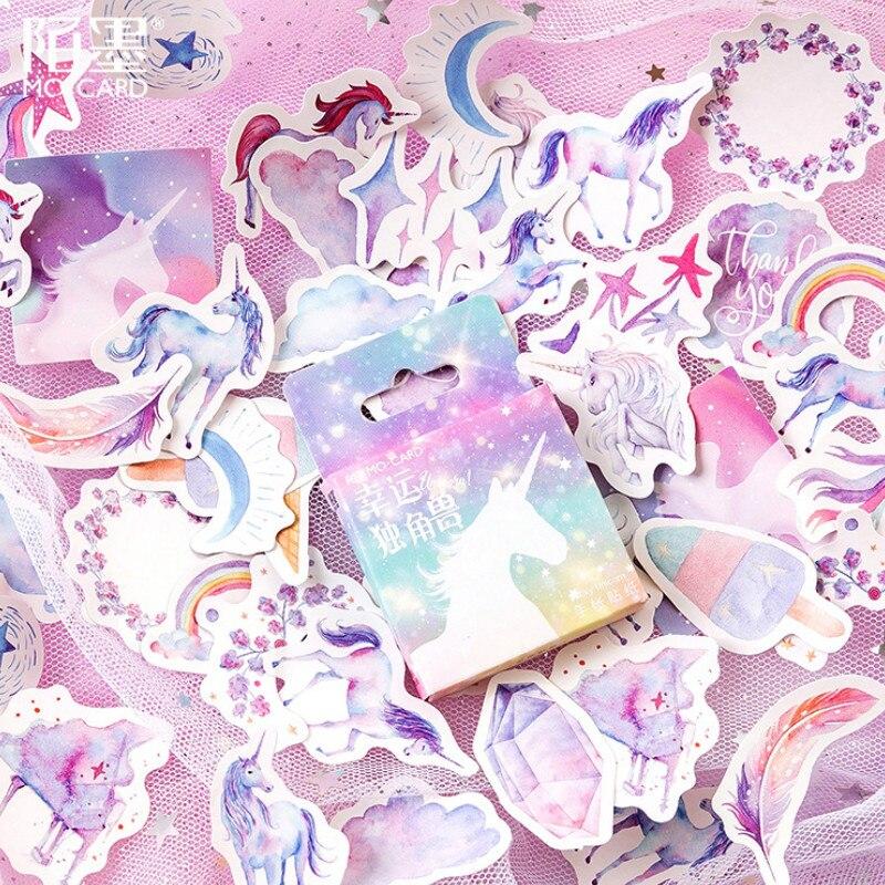 Leuk 1 Doos Verkopen Lucky Eenhoorn Koelkastmagneet Souvenir Voor Kids Leuke Auto Plantaardige Emoji Stickers Koelkast Magneten