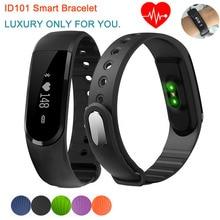 Роскошные ID101 Умный Браслет Bluetooth 4.0 Heart Rate Monitor Smartband Пульс Спорт Умный Группа Фитнес-Трекер для Android iOS