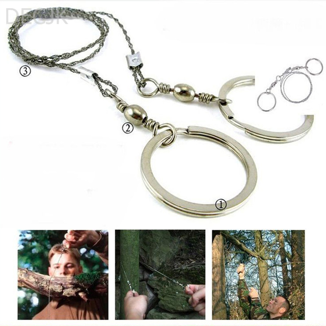 Wire Saw Outdoor Practical Emergency Survival Gear Tools Bushcraft Camping Saws Portable Tool Line Four Strands Stainless Steel