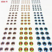 best delicate fish eyes 3D fishing lure eyes mix more color size 3mm-6mm fly fish eyes quantity:4papers total 732pcs/lot