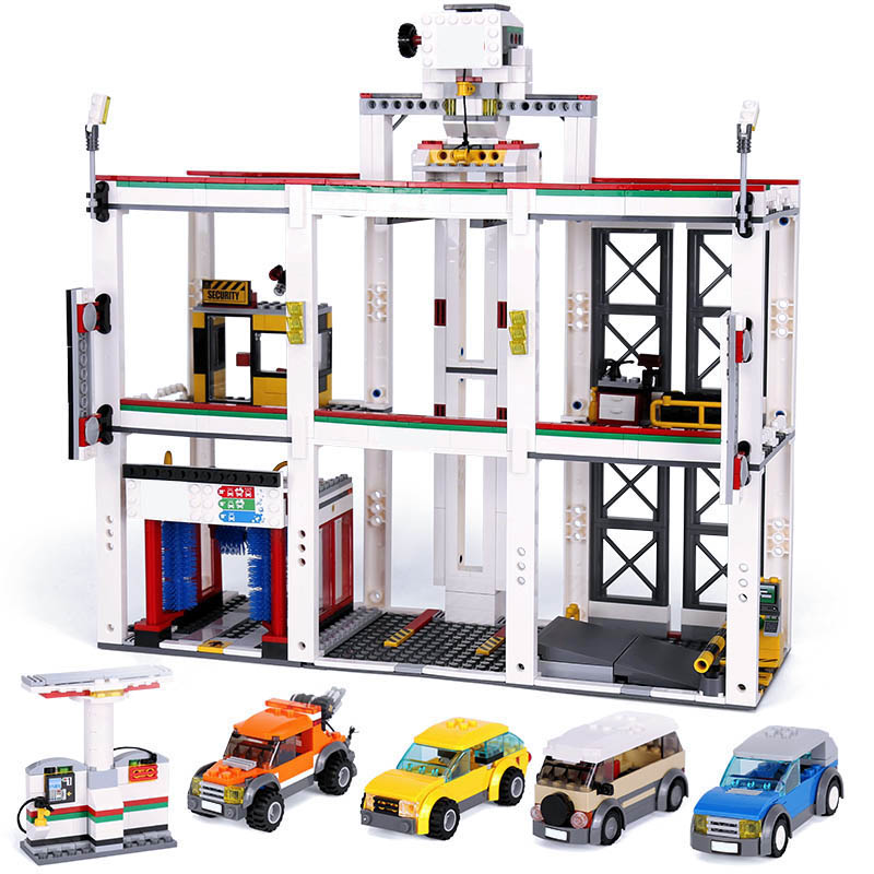 Model Building Blocks Toys 02073 1045pcs City Garage Set Compatible