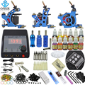 OPHIR Complete Tattoo Kit 3 Tattoo Machine & 12 Color Tattoo Inks & 50pcs Needle Nozzle Crip Tips Set for Body Tattoo Art _TA082