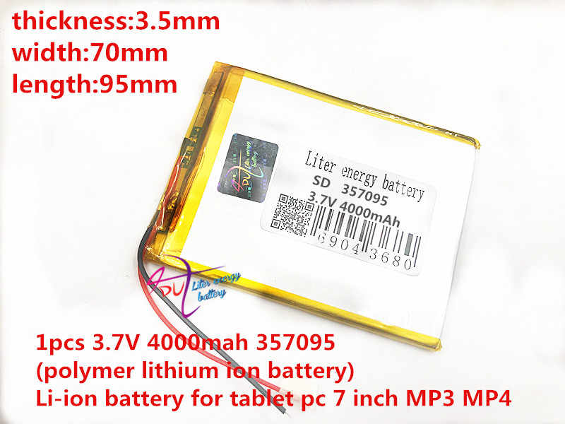 337095 357098 357095 mid литиевая батарея _ 3,7 v 4000 mah 357095 полимерная литий-ионная батарея