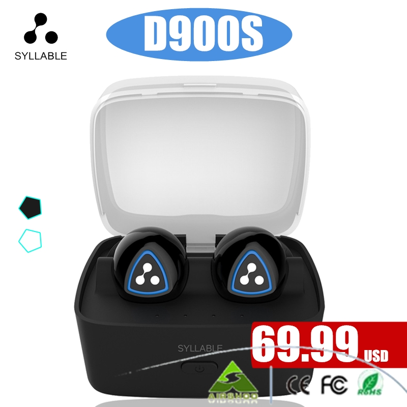 100% Original Syllable D900S Bluetooth Stereo Earphone Wireless Music Handsfree Mini Earbud fone de ouvido With Microphone mini bluetooth earphone stereo earphone handsfree headset for iphone samsung xiaomi pc fone de ouvido s530 wireless headphone