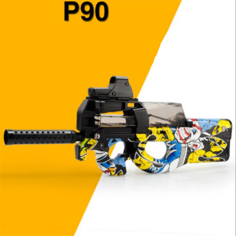 P90 cs live électrique jouet pistolet fusil balle molle sniper fusil pistolet d'eau pistolet de paintball en plein air paintball elite airsoft air canons