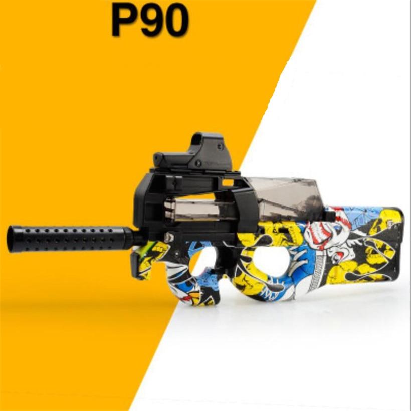 P90 cs live électrique jouet pistolet fusil balle molle sniper fusil pistolet d'eau pistolet de paintball en plein air paintball elite airsoft air canons