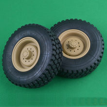 2 STUKS Tire Wheel Tyre f RC 1:12 Hengguan 1/12 Klimmen Auto Model 8 Wiel Militaire Truck Trailer Golden Beast kop Tractor(China)