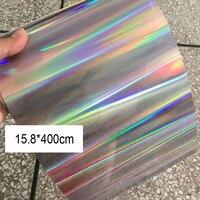 Shining Laser Silver Hologram Sequins Sheet Raw Material PVC Spangles For DIY Crafts Wedding Decoration Scene Arrangement Flake
