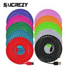 High Quality 20CM/1M/2M/3M short Braided Nylon Micro USB Data Sync Cable Cord For Samsung Galaxy S3 S4 S6 S7 Edge LG Sony HTC