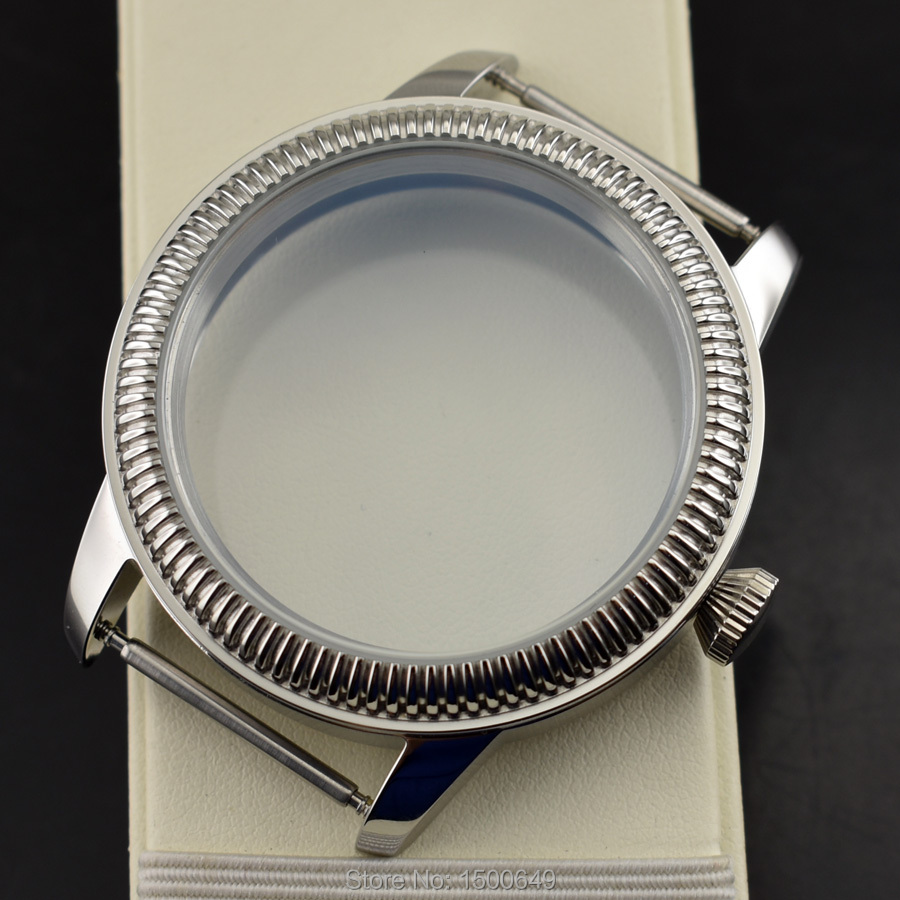 Parnis 44mm Watch accessories watch housing special fit eta 6497 6498 st36 Manual winding mechanical movement mens watch   Fotoflaco.net