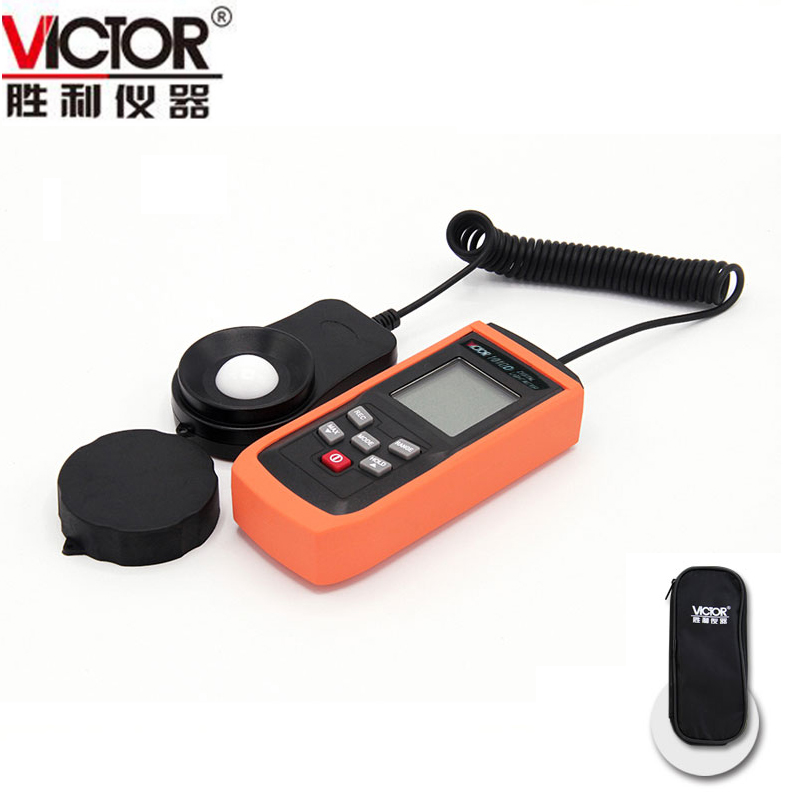 VICTOR VC1010D 1010D 3 1/2 Counts Digital Lux Meter Photo Light Meter Lumens Test 0.1~100x2000 Lux. (Upgraded VC1010B) fast arrival victor illuminance meter vc1010b meter meter lumens tester illuminance meter brightness table