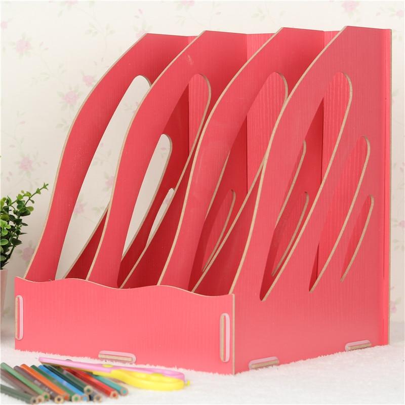Revista bastidor de datos DIY caja de madera creativa Oficina ...