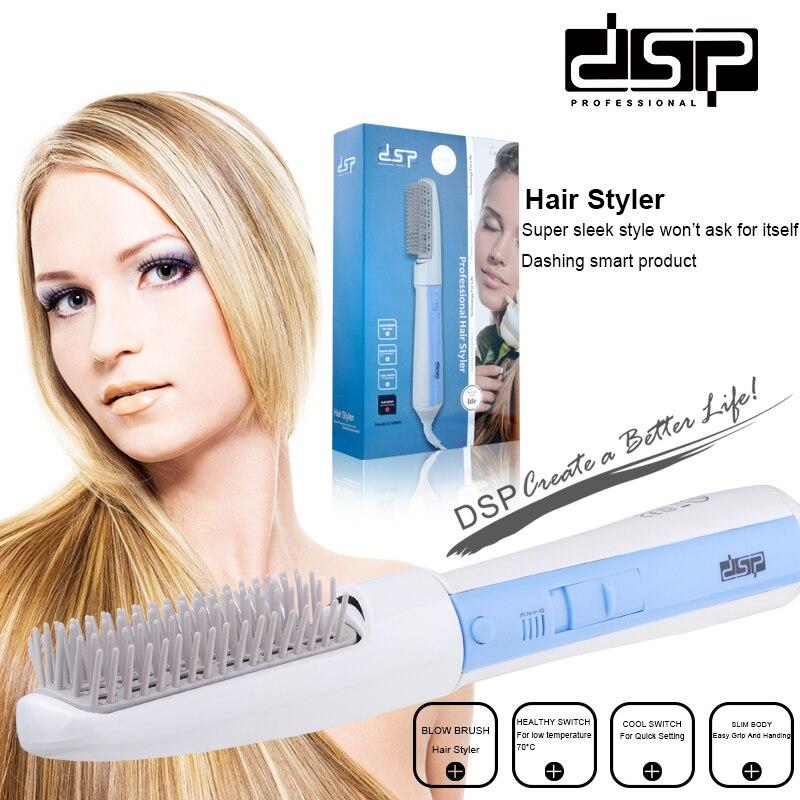 Dsp profissional elétrico pente secador de cabelo ferramentas estilo cabelo styler escova 550 w