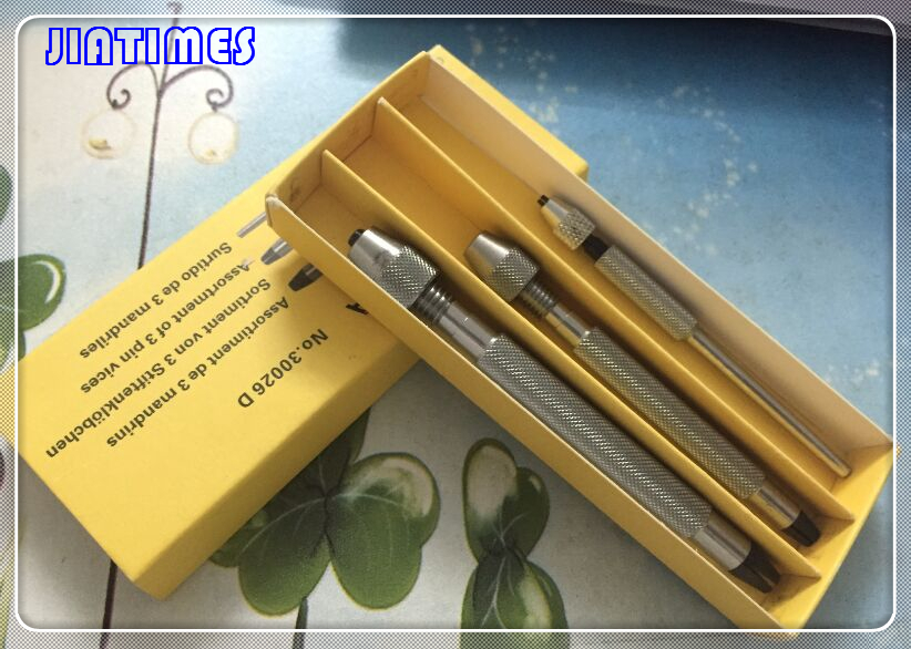 цена на Free Shipping 1 Set of 3 Pin Vices Copy of Bergeon 30026D for Watch Repair