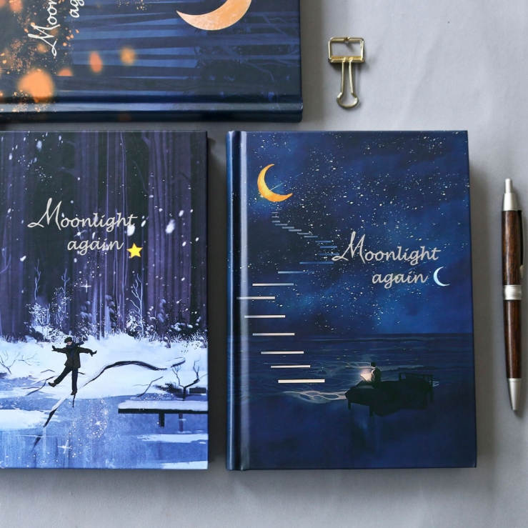 MIRUI Moonlight Hard Cover Beautiful Cute Notebook Journal Blank Notepad Free Note Stationery GiftMIRUI Moonlight Hard Cover Beautiful Cute Notebook Journal Blank Notepad Free Note Stationery Gift