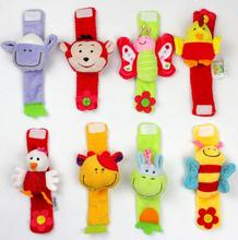 Soft Animal Baby Rattles Children Infant Newborn Plush Sock Baby Toy Hand Wrist Strap Christmas Gift 40%off