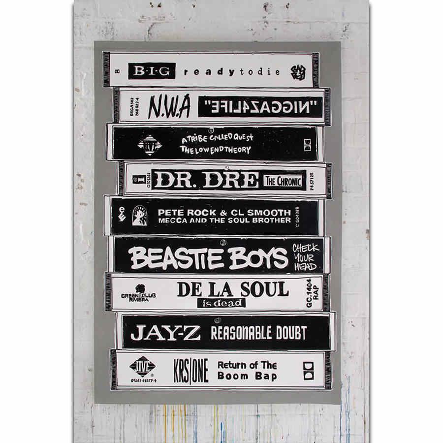 S1884 Nwa Jay Z Old School Music Hip Hop Rap Star Rer Wall Art Painting