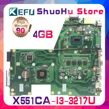 KEFU For R512CA ASUS F551C X551C X551CA X551CAP I3-3217U CPU 4GMemory laptop motherboard tested 100% work original mainboard