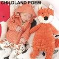 Весна новорожденный Ребенок Девушки Одежда пальто Младенца С Капюшоном лиса Пальто Девушка Куртка новорожденного младенца мальчиков одежда Малыша Девушка Верхняя Одежда