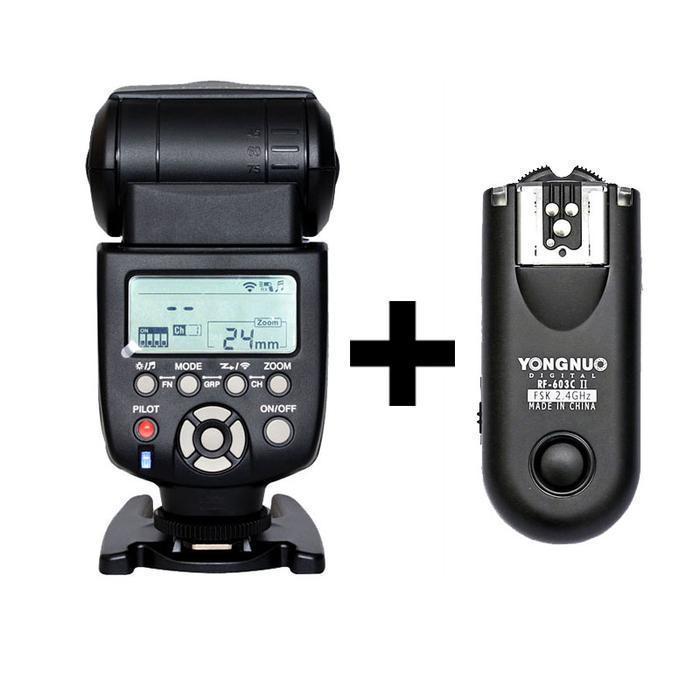 Yongnuo YN-560 III Flash Speedlite With RF-603 II Single Transceiver for Canon YN 560III + RF 603 II Flash Trigger Transmitter