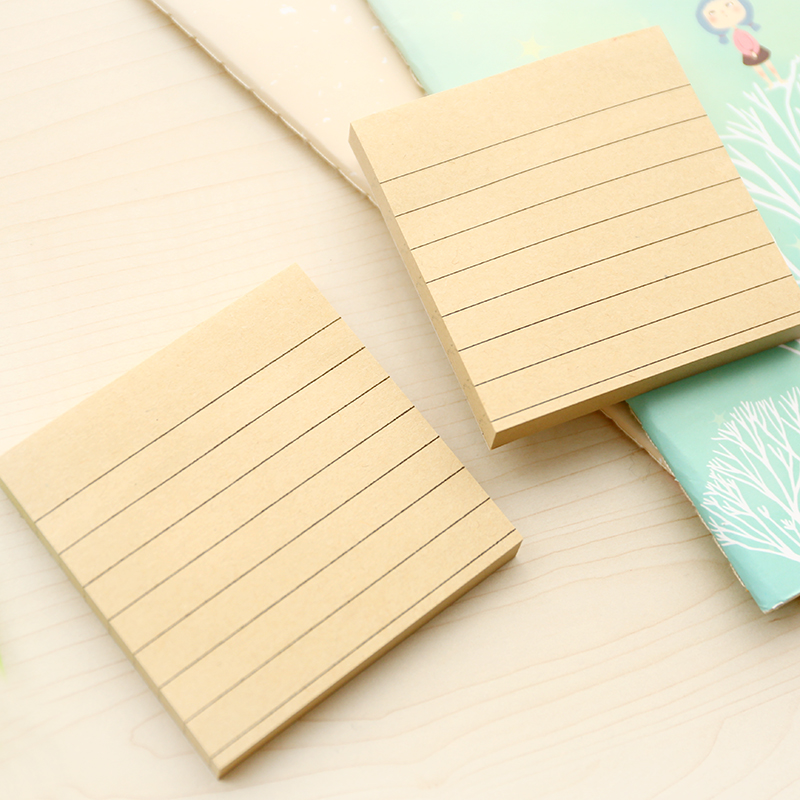 3 pcs/Lot Kraft paper sticker Simple memo pad Adhesive sticky notes Post guest book Stationery Office School supplies F306