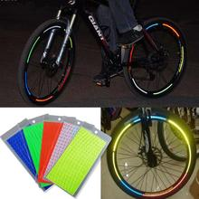 8pcs/pack reflective stickers Motorcycle Bicycle Reflector Mountain Bike Cycling Security Wheel Rim security wheel led light s2