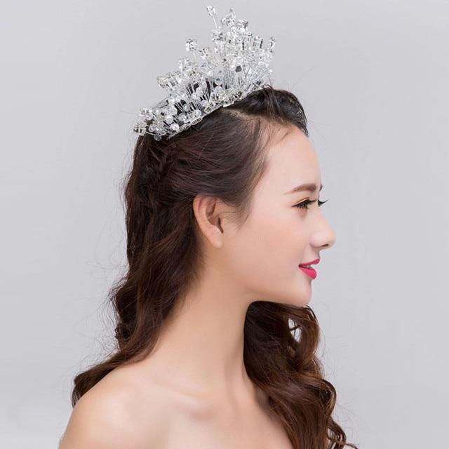 Bridal Crystal Big Crown 100 Handmade Tiaras And Crown Soft