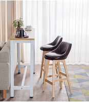 solid wood home back high bar stool rotating bar stool fashion modern minimalist creative high stool