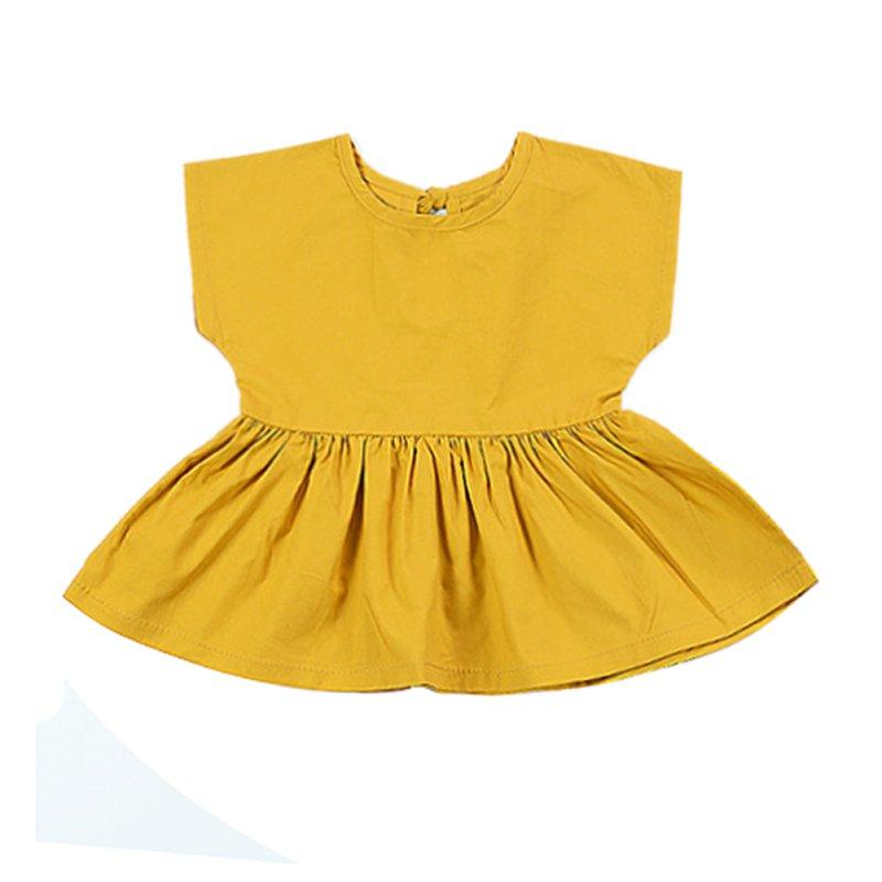 Sleeveless Yellow Princess Party Dress One-piece Dress Infantis Menina Baby Dresses Toddle Kids Clothes Summer Girls Dress